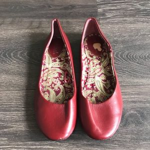 Wet Seal Red Ballet Flats Size 9